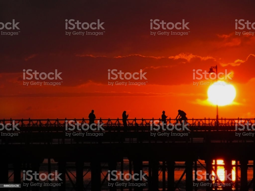 Ryde Sunset stock photo