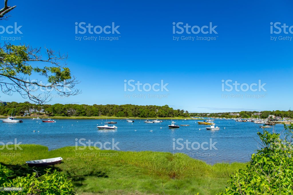Ryder's Cove Boats stock photo