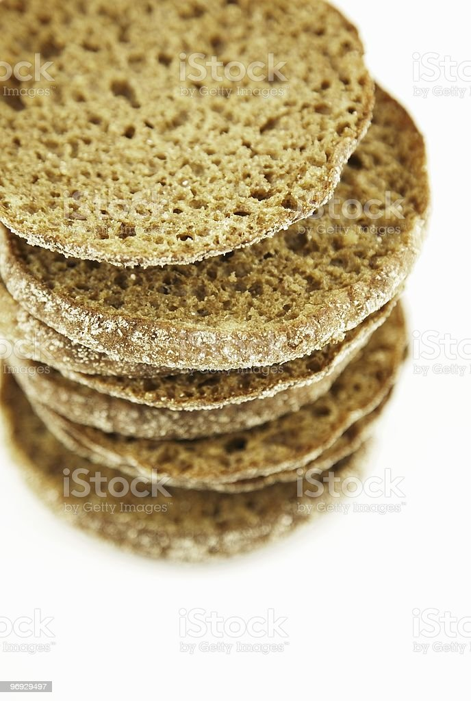 Rye bread bits 1 royalty-free stock photo