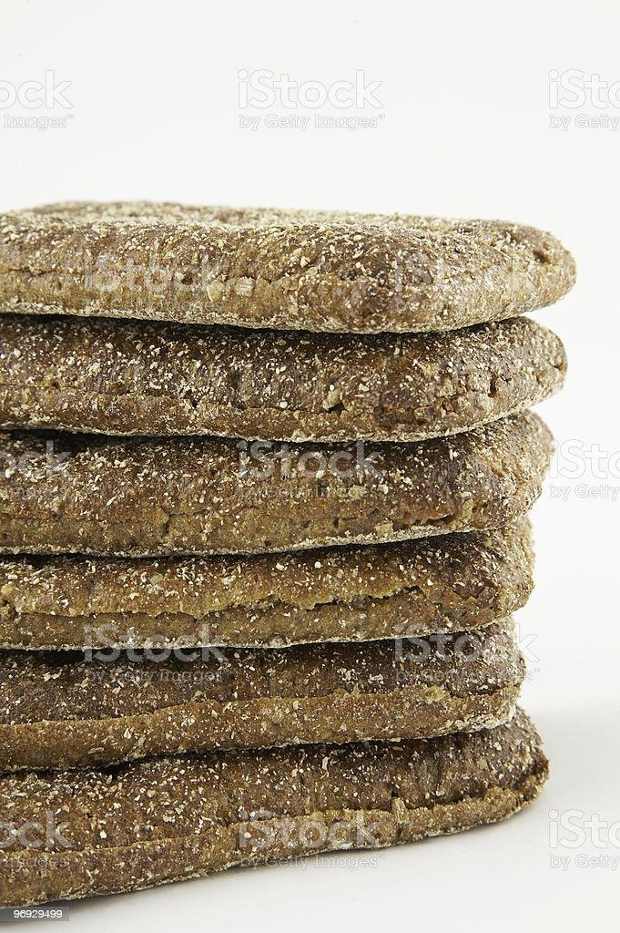 Rye bread bits 3 royalty-free stock photo