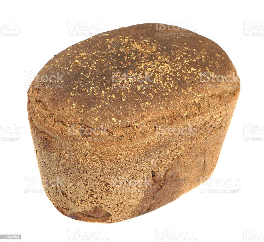 Rye bread isolated on white stock photo