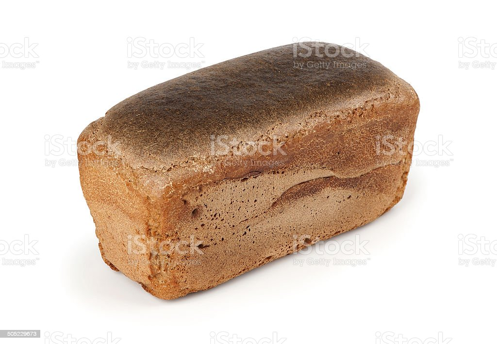Rye bread on a white background stock photo