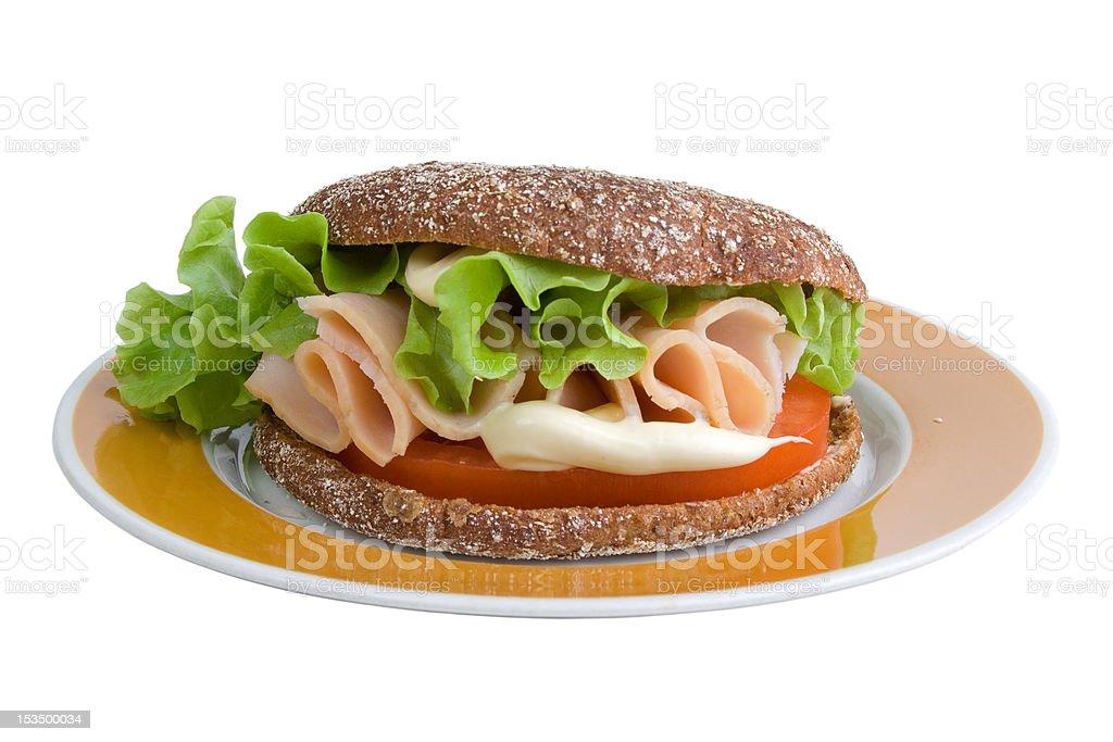 Rye bread sadwich royalty-free stock photo