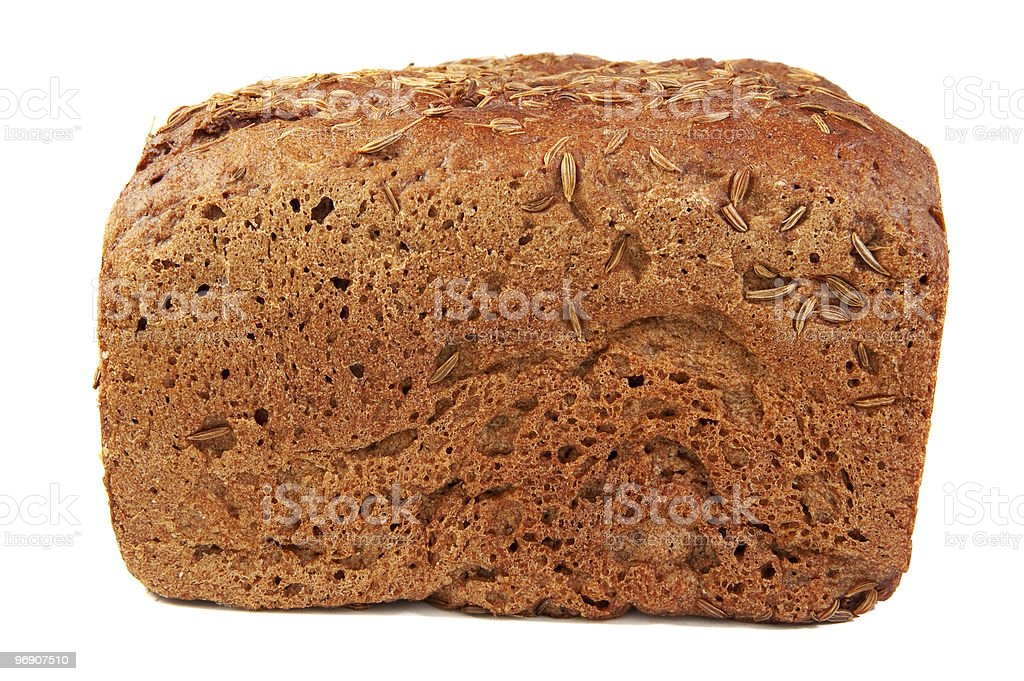 rye bread with caraway seed  . royalty-free stock photo