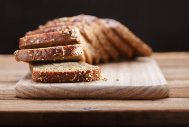 Rye bread with grains stock photo