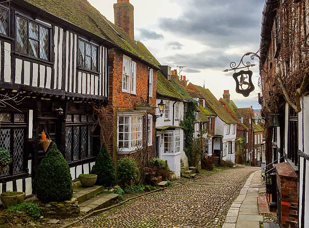 rye, east sussex, uk - east sussex stockfoto's en -beelden