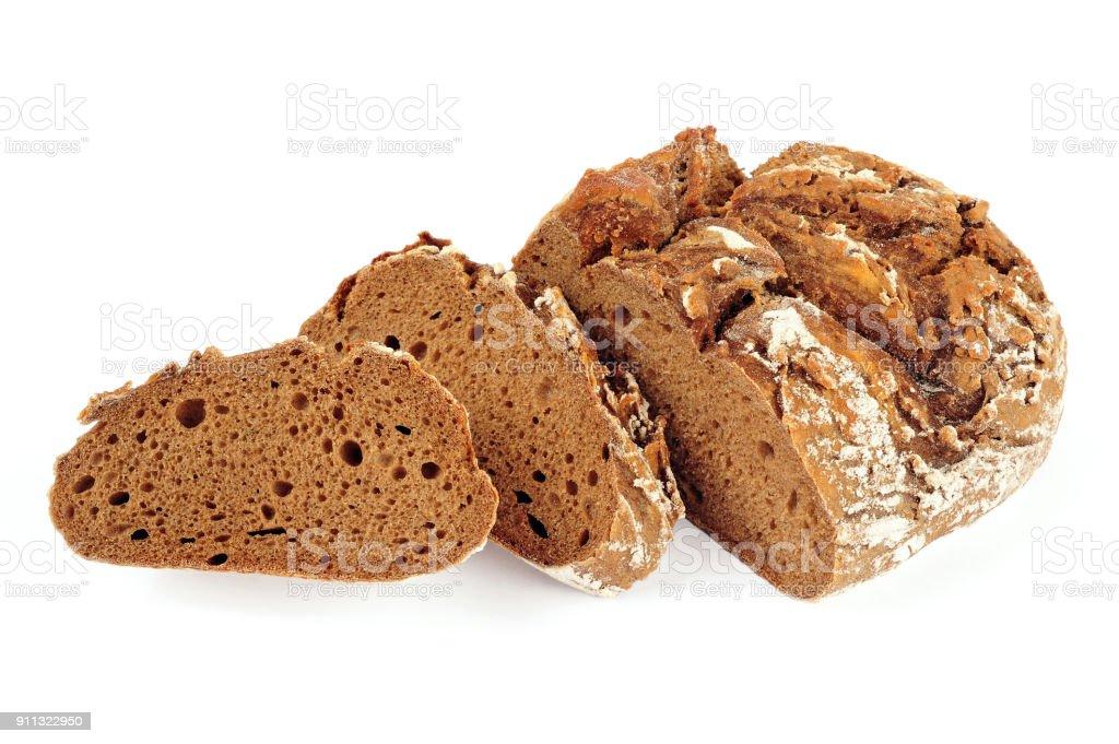 Roggen Brot isoliert – Foto