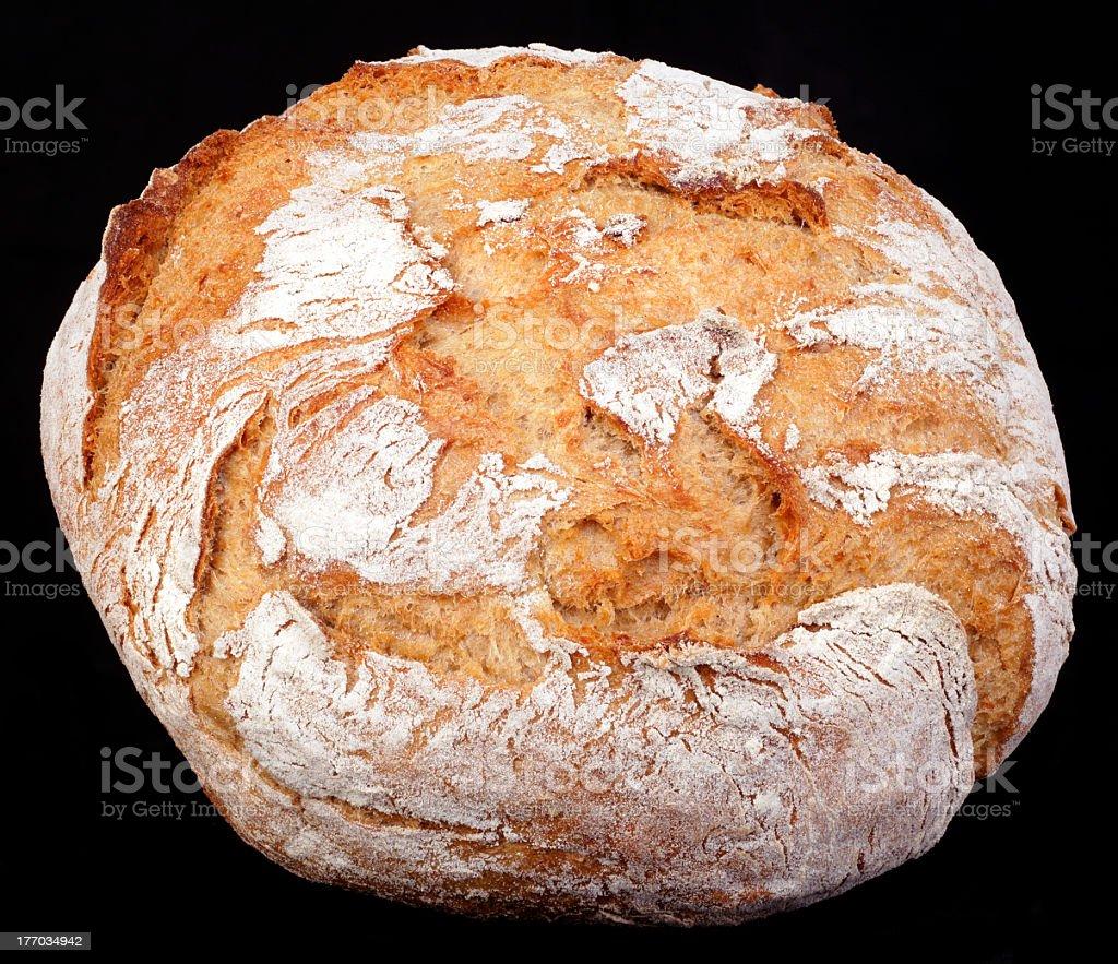 Rye Round Bread Cutout stock photo