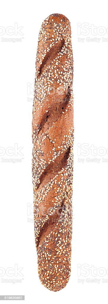 Rye Wholegrain Baguette stock photo