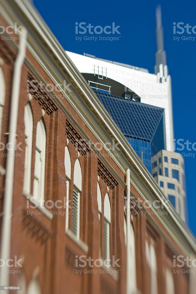 Ryman and Bat Building, Nashville, Tennessee stock photo