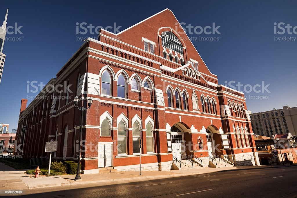 Ryman Auditorium stock photo
