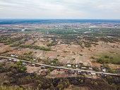 Rysli village. Morshansk of the Tambov region, Russia. Aerial vi