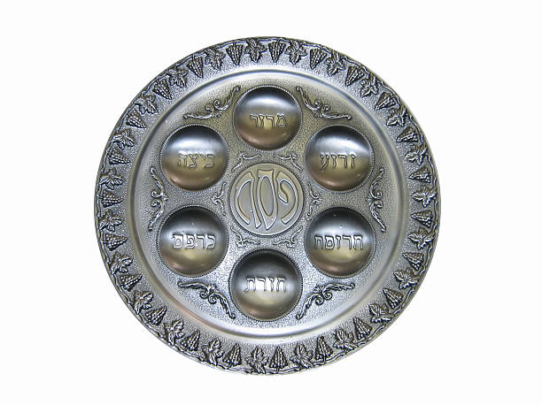 Рassover Seder plate for Jewish Passover. seder plate stock pictures, royalty-free photos & images