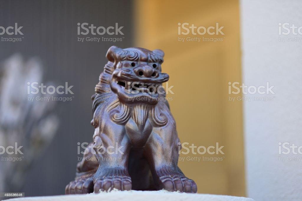 Ryukyu guardian stock photo