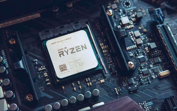 AMD Ryzen 1800x processor stock photo