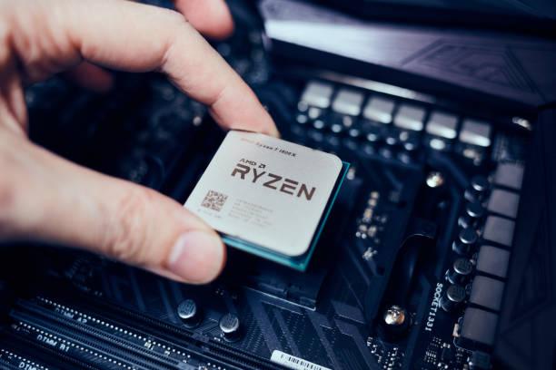 AMD Ryzen CPU stock photo