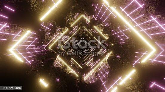 istock 80's Abstrac Grid Light Retro 1267246186