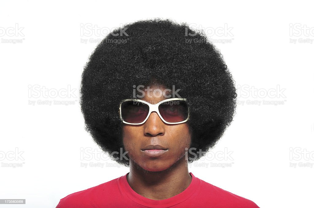 70's Afro royalty-free stock photo