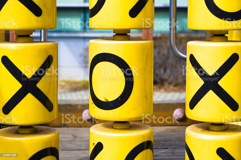 X's and O's royalty-free stock photo