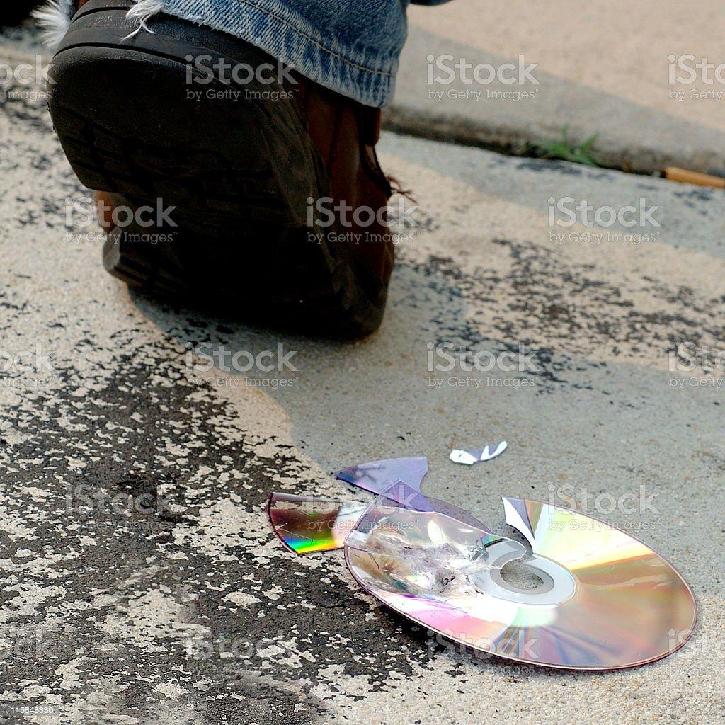 CD's are dead stock photo