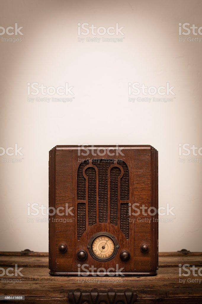 1930's Art Deco Tube Radio, With Copy Space royalty-free stock photo