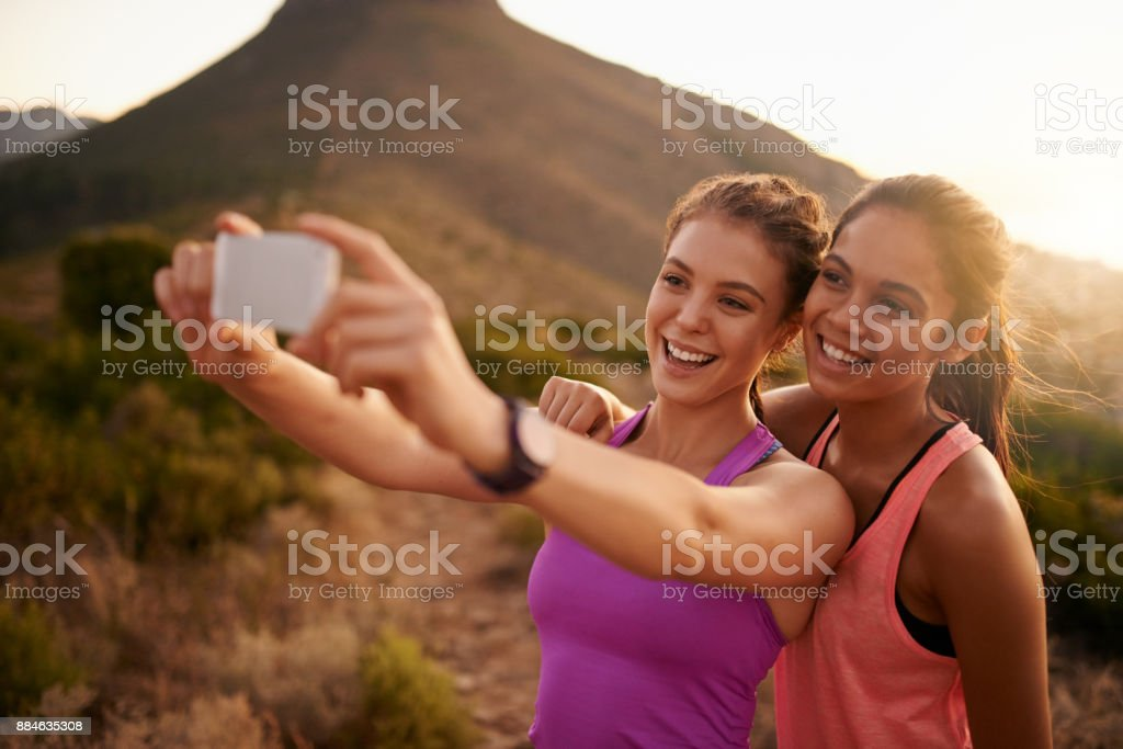 BFF's - Best friends in fitness stock photo