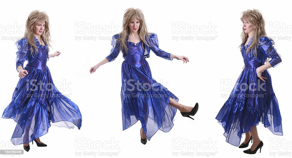 80's Big Hair: Dancing Trio (3 for 1) royalty-free stock photo