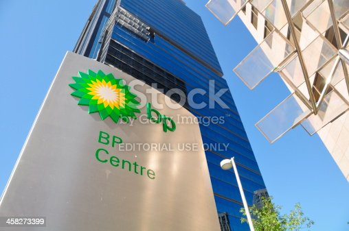 Calgary, Canada - September 21, 2012: BP's Canadian head office in Calgary Alberta. BP is one of the major developers of the Alberta Oilsands, and a global energy company based in the UK.