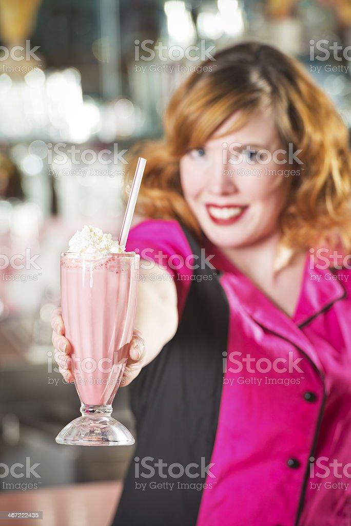 50's Diner Milkshake stock photo