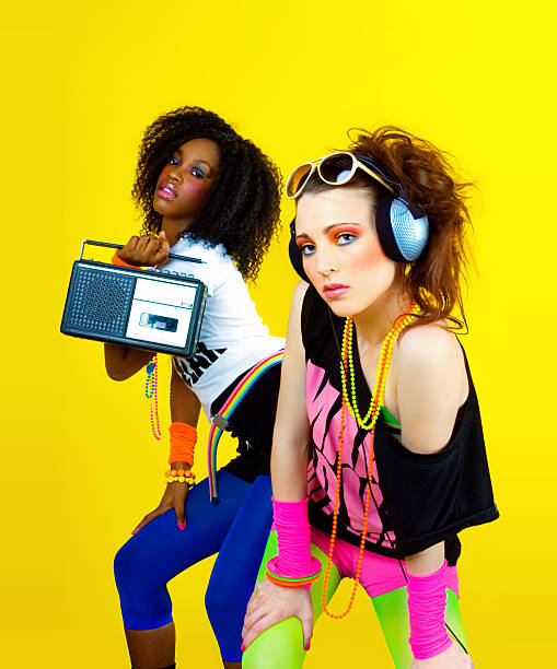 80's Disco Chicks http://www.izahabur.com/istock/ph23.jpg pop musician stock pictures, royalty-free photos & images