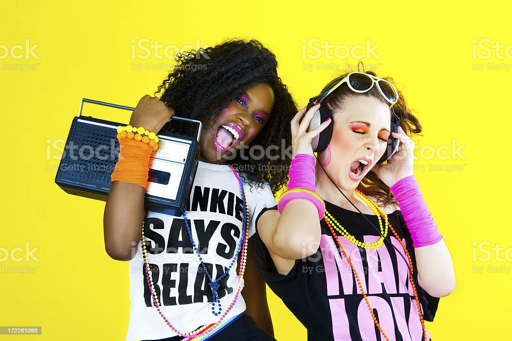 80's Disco Chicks royalty-free stock photo