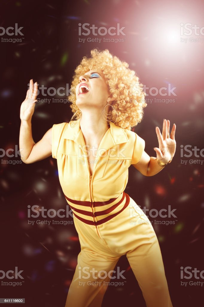 70's Disco Dancing stock photo