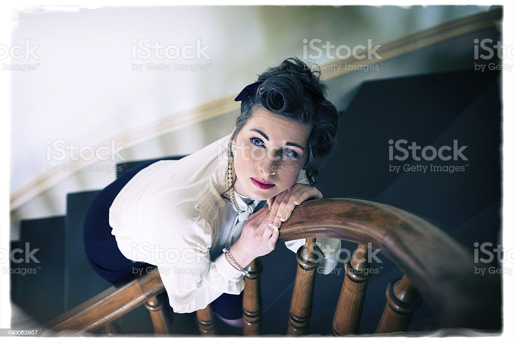 1940's Era Young Woman stock photo