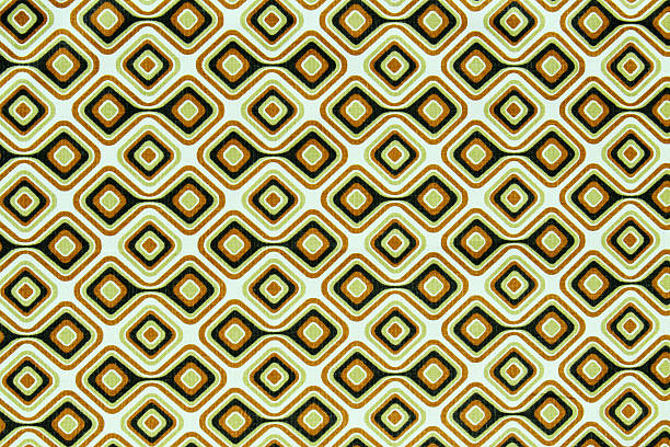 70's fabric wallpaper stock photo