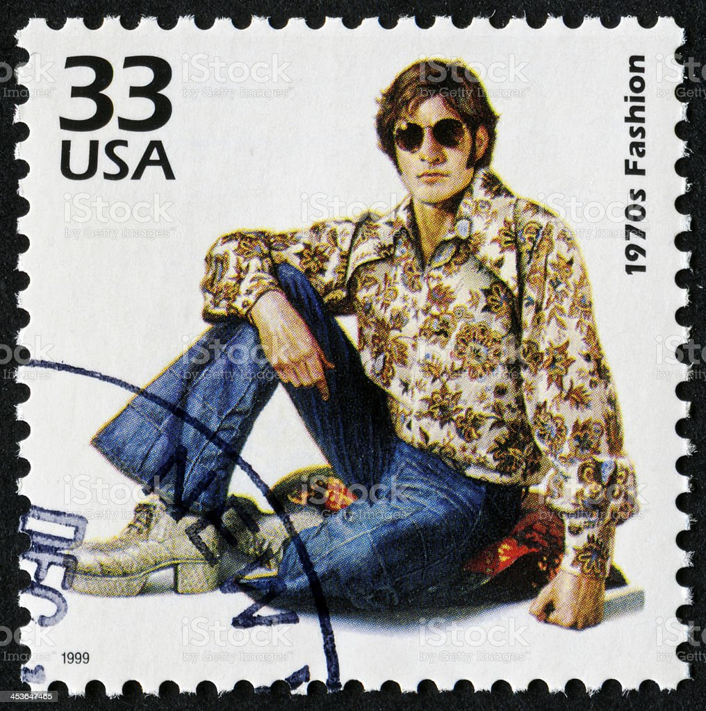 1970's Fashion Stamp royalty-free stock photo