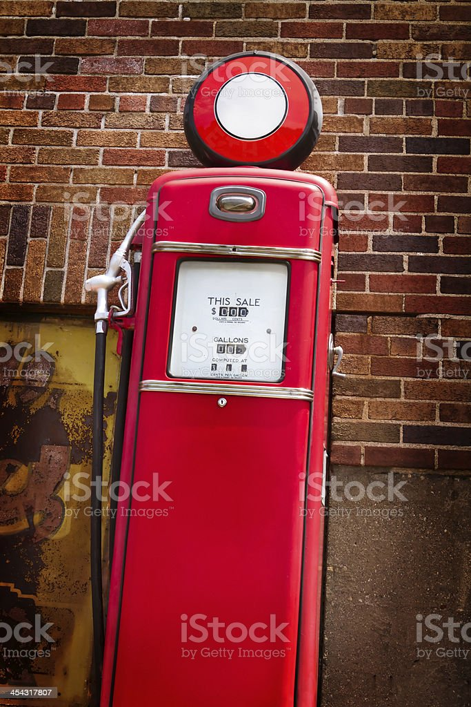 1950's Gasoline Pump royalty-free stock photo