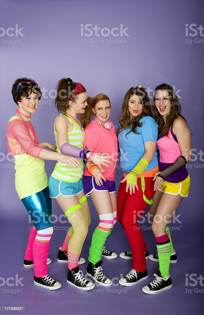 1980's girls royalty-free stock photo
