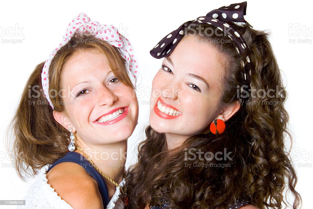 80's girls royalty-free stock photo