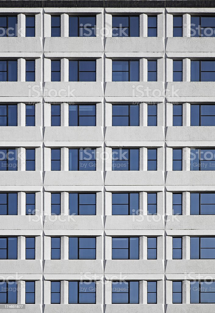 1970's Glass and Concrete Office Block royalty-free stock photo