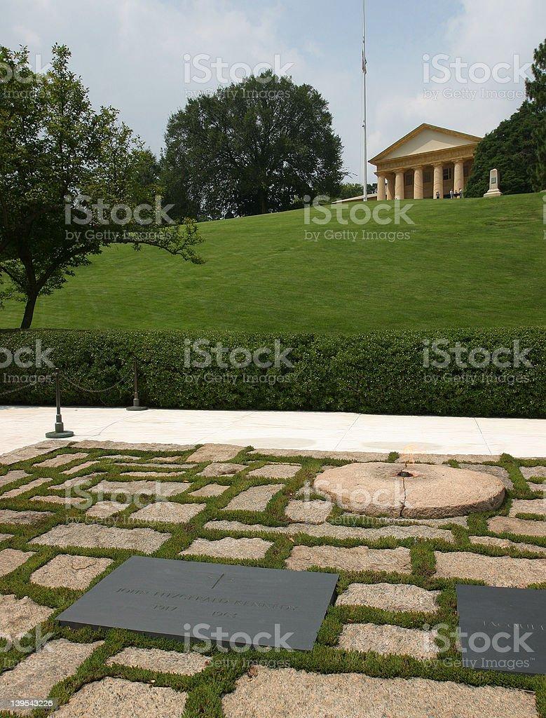 JFK's Grave royalty-free stock photo