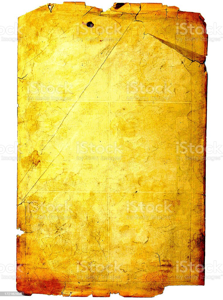 1800's Grunge Stained Parchment Paper stock photo