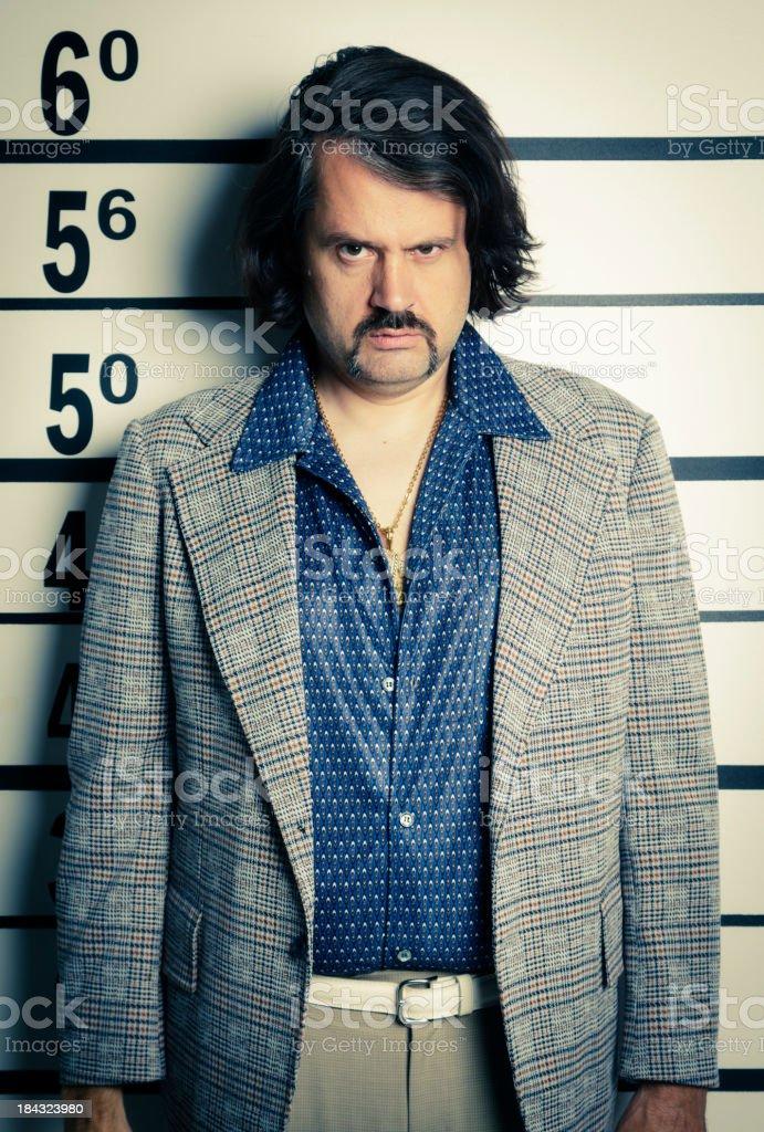 70's Guy Mugshot royalty-free stock photo
