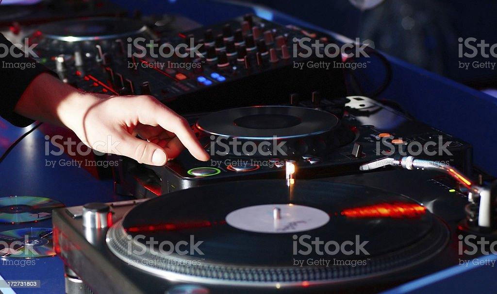 DJ's hand royalty-free stock photo