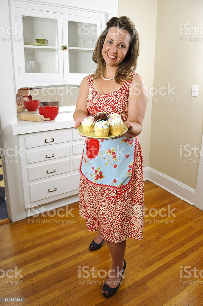 50-60's housewife royalty-free stock photo