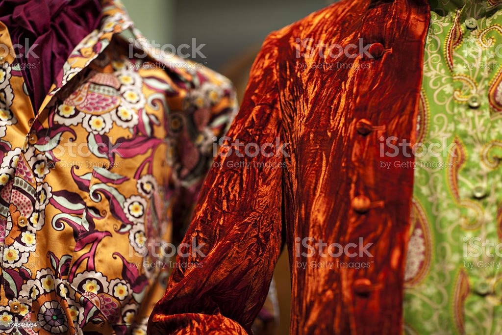 60's men's  psychedelic fashion royalty-free stock photo