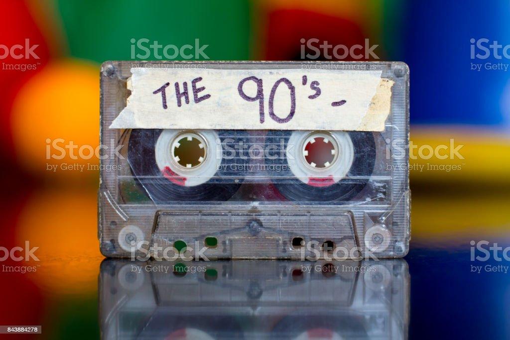 Fita mista dos anos 90 - foto de acervo