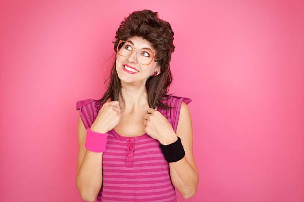 80's Mullet Geek stock photo