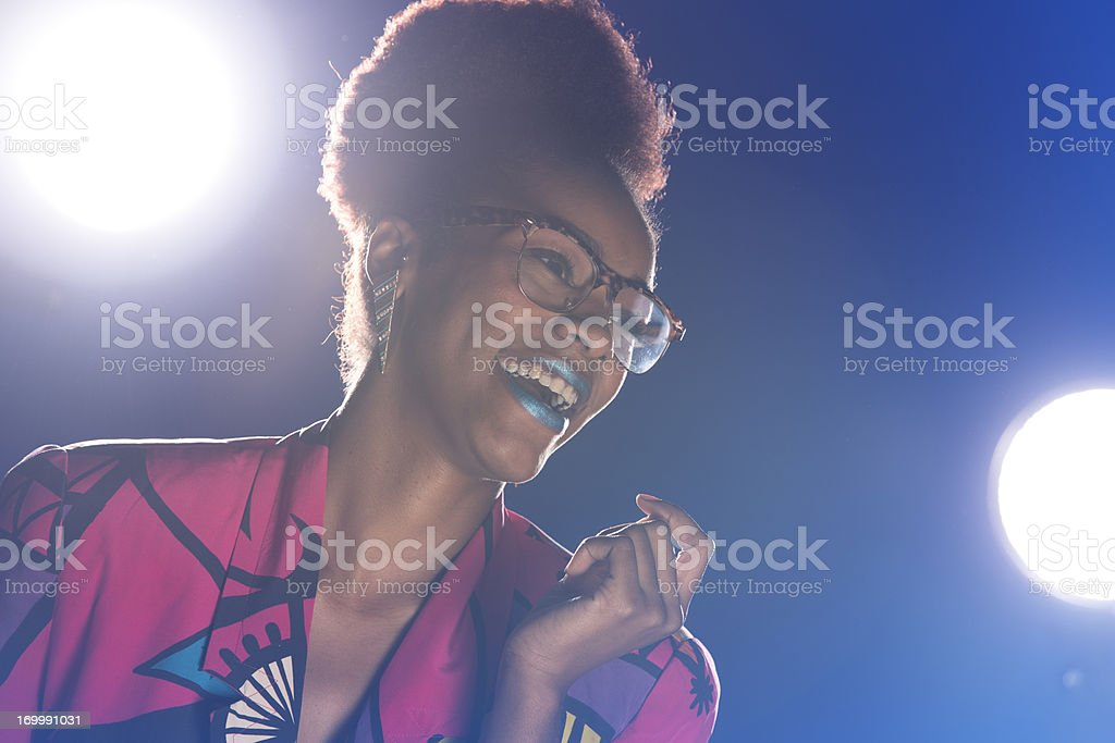 80's Party Chick stock photo