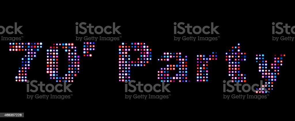 70's party led text royalty-free stock photo