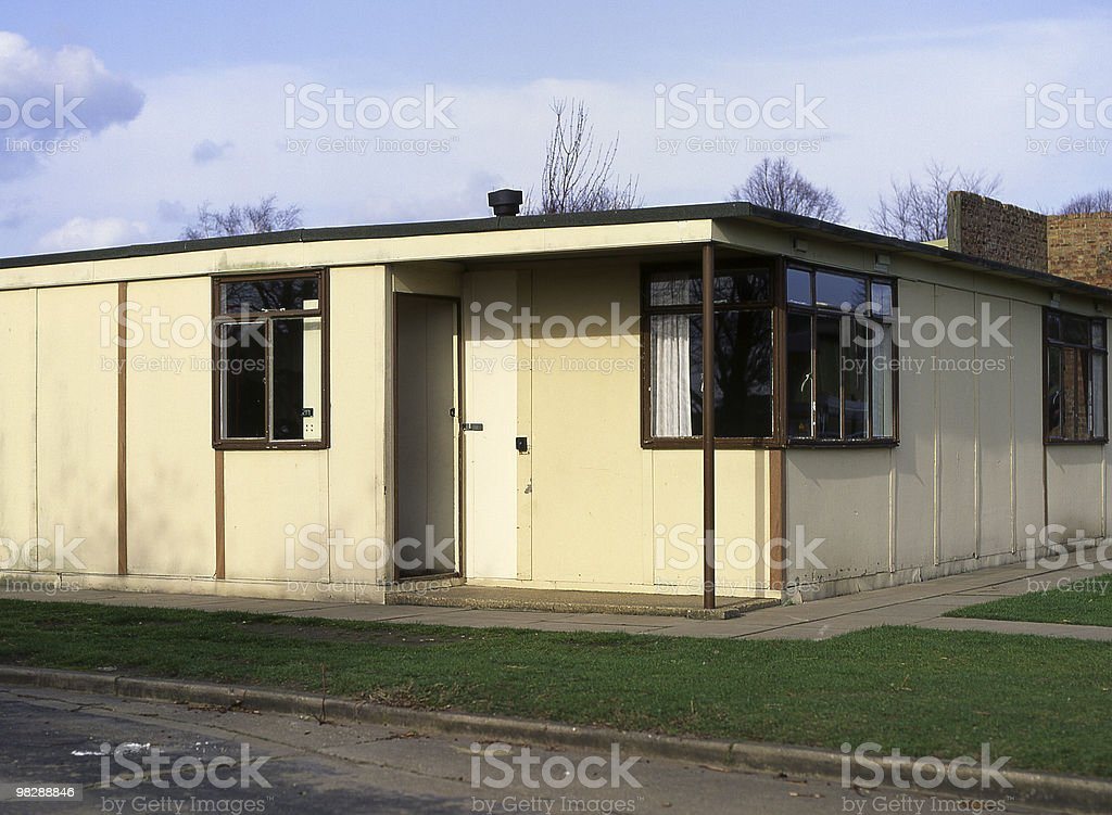 1940's Post War English Prefabricated House mostly made in Asbestos royalty-free stock photo